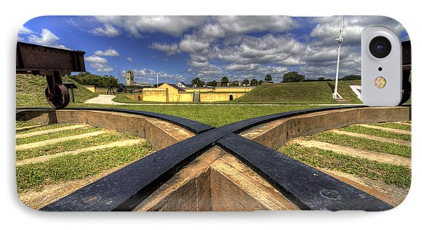 Fort Moultrie Cannon Tracks IPhone Case