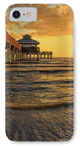 Fort Myers Beach Fishing Pier At Sunset IPhone Case