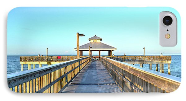 Fort Myers Beach Florida Fishing Pier IPhone Case by Timothy Lowry