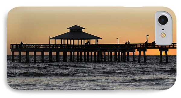 Fort Myers Beach Pier Sunset IPhone Case