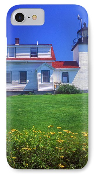 Fort Point Lighthouse Stockton Springs Phone Case by John Burk