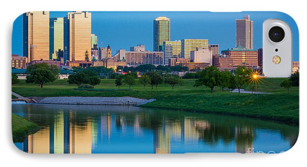 Fort Worth Mirror IPhone Case by Inge Johnsson
