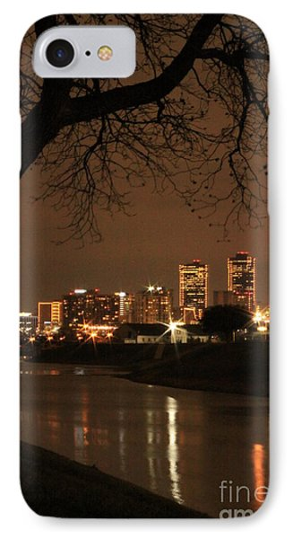 Fort Worth Skyline IPhone Case by Jill Smith