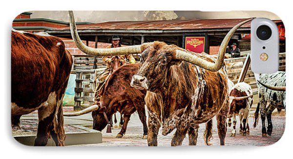 Fort Worth Stockyards IPhone Case by Kelley King