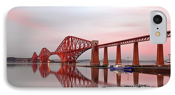 IPhone Case featuring the photograph Forth Railway Bridge Sunset by Grant Glendinning