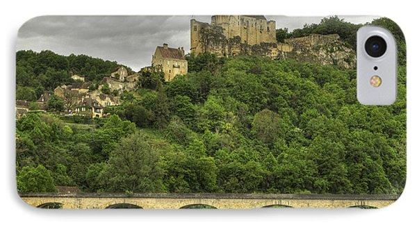Fortified Castle Of Beynac In Dordogne France Phone Case by Arabesque Saraswathi