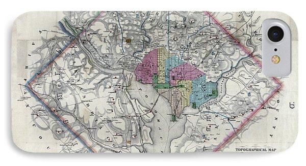 Fortified Civil War Washington D C Map  1862 IPhone Case by Daniel Hagerman