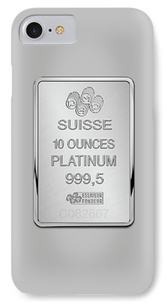 Fortuna Suisse Minted Platinum Bar - Reverse IPhone Case