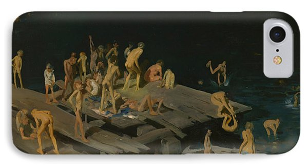 Forty Two Kids IPhone Case by George Wesley Bellows