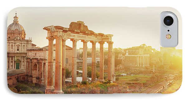 Forum - Roman Ruins In Rome At Sunrise IPhone Case by Anastasy Yarmolovich