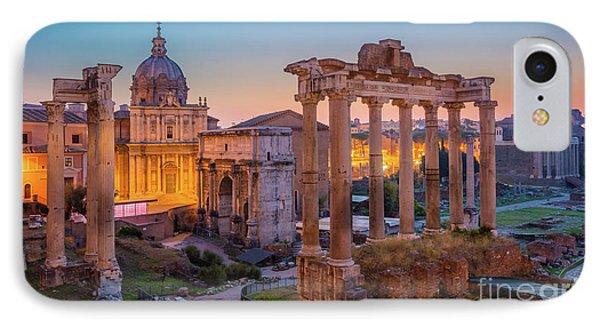Forum Romanum Dawn IPhone Case by Inge Johnsson