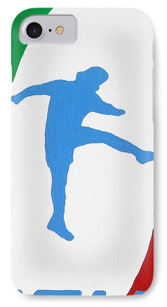Forza Azzurri Phone Case by Oliver Johnston