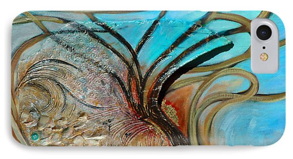 IPhone Case featuring the painting Fossil In The Deep by Suzanne McKee