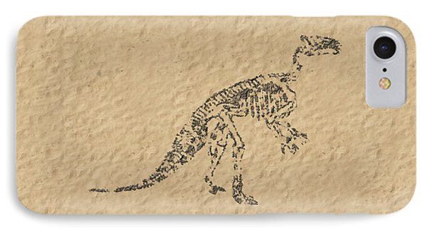 Fossils Of A Dinosaur IPhone Case by Anton Kalinichev