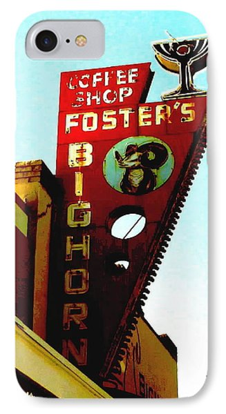 Foster's Bighorn Cafe IPhone Case by Sadie Reneau