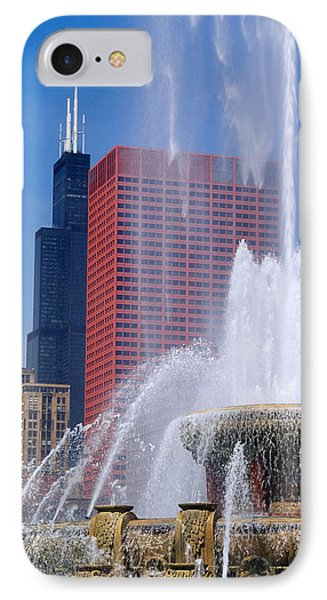 Fountain In A City, Buckingham IPhone Case by Panoramic Images