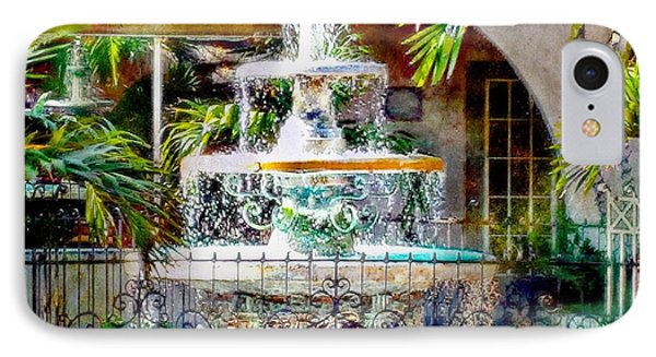 Fountain Of Water IPhone Case by Barbara Chichester