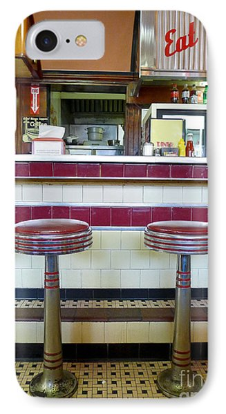 Four Aces Diner IPhone Case by Edward Fielding