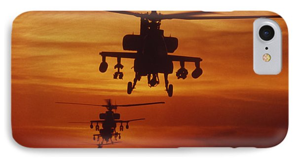 Helicopter iPhone 7 Case - Four Ah-64 Apache Anti-armor by Stocktrek Images