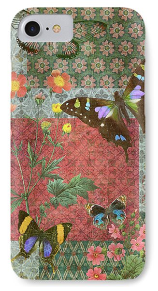 Four Butterfly Patch Green IPhone Case by JQ Licensing