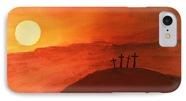 Four Crosses IPhone Case by David Stasiak