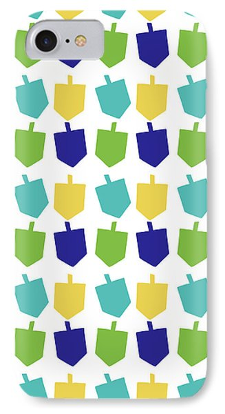 Four Dreidels Pattern- Art By Linda Woods IPhone Case