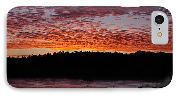 IPhone Case featuring the photograph Four Elements Sunset Sequence 2 Coconuts Qld by Kerryn Madsen - Pietsch
