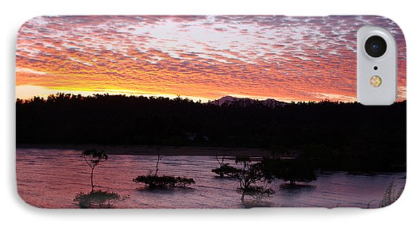 IPhone Case featuring the photograph Four Elements Sunset Sequence 3 Coconuts Qld by Kerryn Madsen - Pietsch