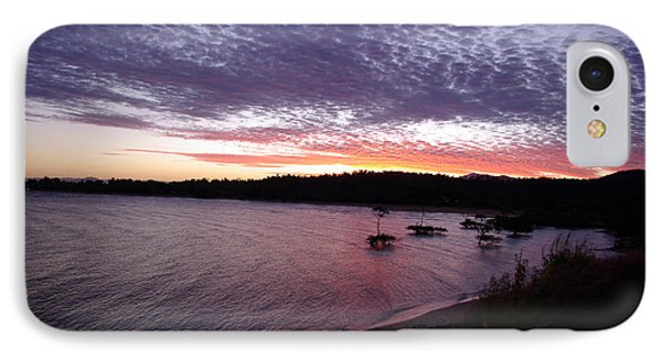 IPhone Case featuring the photograph Four Elements Sunset Sequence 6 Coconuts Qld  by Kerryn Madsen-Pietsch