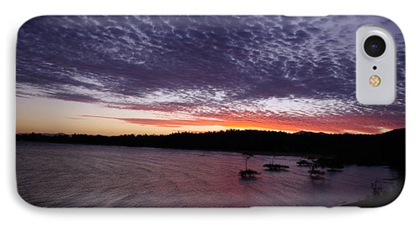 IPhone Case featuring the photograph Four Elements Sunset Sequence 7 Coconuts Qld  by Kerryn Madsen - Pietsch