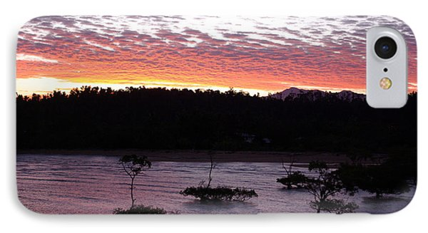 IPhone Case featuring the photograph Four Elements Sunset Sequence 8 Coconuts Qld  by Kerryn Madsen - Pietsch