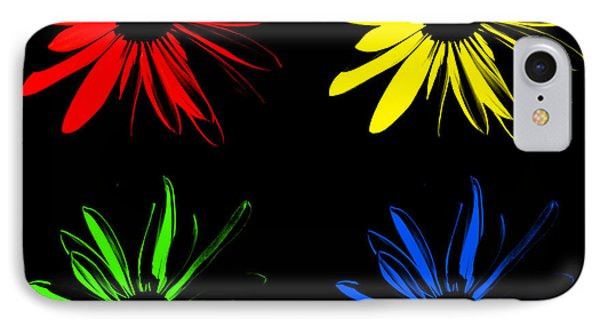 IPhone Case featuring the photograph Four Flowers by Maggy Marsh