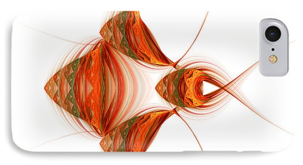 IPhone Case featuring the digital art Four Fractal Fishies by Richard Ortolano