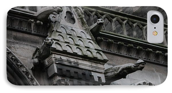 IPhone Case featuring the photograph Four Gargoyles On Notre Dame North by Christopher Kirby