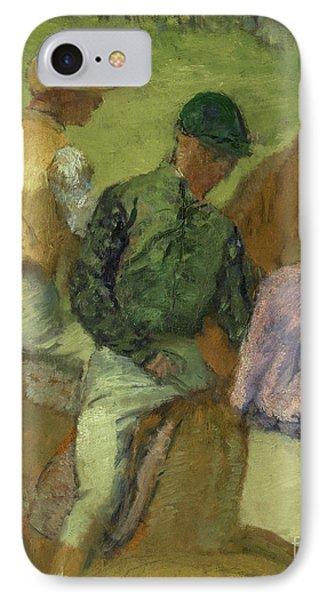 Four Jockeys IPhone Case by Edgar Degas