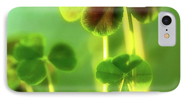 Four Leaf Clover IPhone Case by Bonnie Bruno