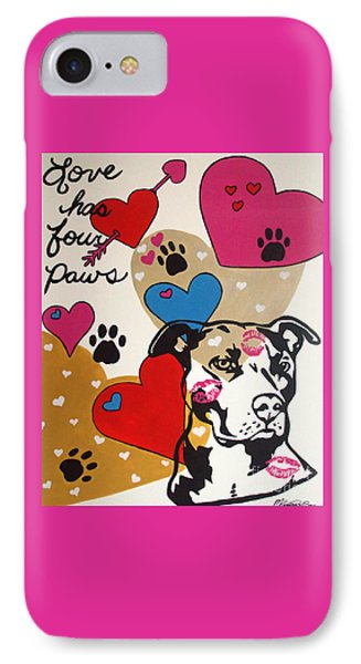 Four Pitty Paws IPhone Case by Melissa Goodrich