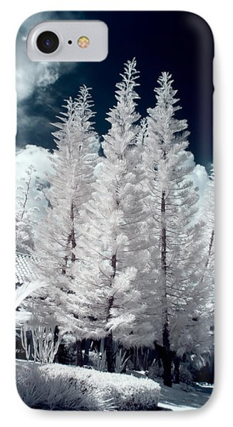 Four Tropical Pines Infrared IPhone Case by Adam Romanowicz