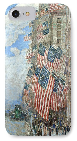 IPhone Case featuring the painting Fourth Of July, 1916 by Frederick Childe Hassam