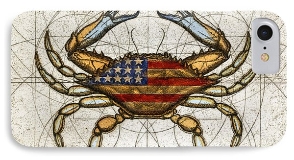 Fourth Of July Crab IPhone Case by Charles Harden