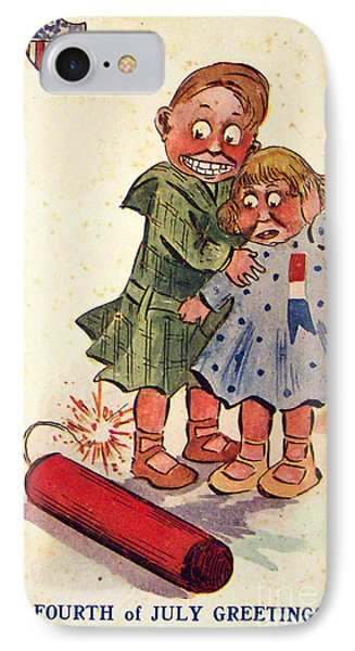 Fourth Of July Greeting Vintage American Poster IPhone Case by R Muirhead Art
