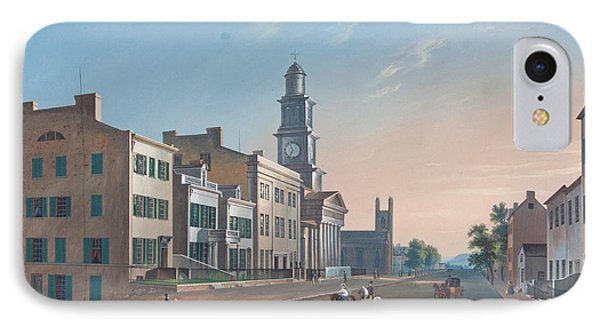 IPhone Case featuring the painting Fourth Street. West From Vine by John Caspar Wild