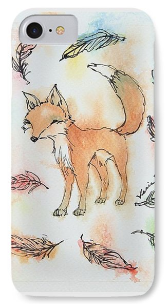 Fox And Feathers IPhone Case