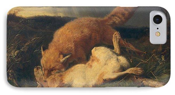 Fox And Hare IPhone Case by Johann Baptist Hofner