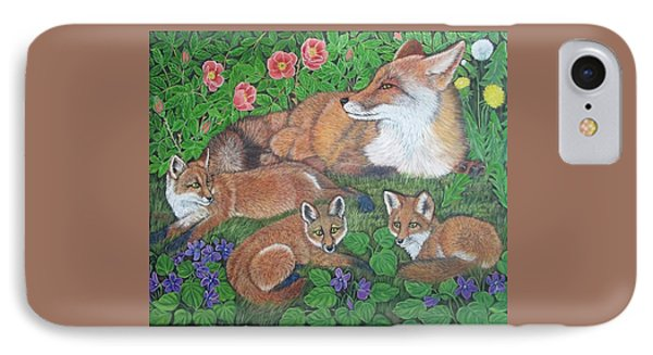 Fox And Kits IPhone Case