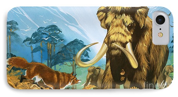 Fox Attacking Mammoth IPhone Case