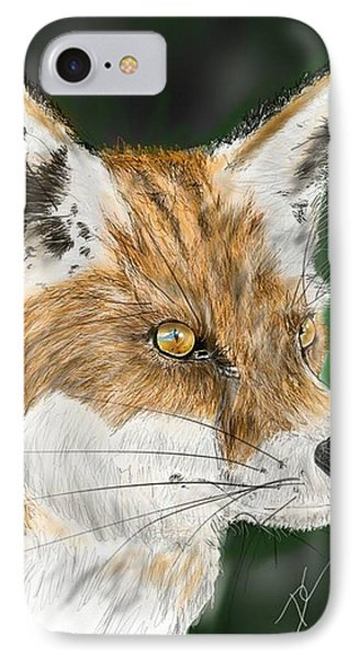 IPhone Case featuring the digital art Fox by Darren Cannell