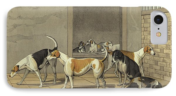Fox Hounds IPhone Case by Henry Thomas Alken