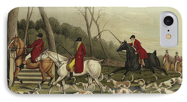 Fox Hunting Going Into Cover IPhone Case by Henry Thomas Alken