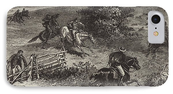 Fox Hunting In Virginia IPhone Case by George Augustus Sala
